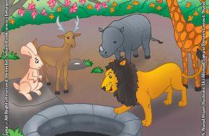 Leon yang Rakus dan Singa di dalam Sumur yang Hebat