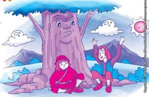 10 menit kumpulan dongeng teladan ilustrasi dua pengembara dan jasa pohon beringin yang terlupakan