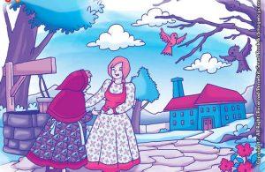10 menit kumpulan dongeng teladan ilustrasi gadis baik hati dan nenek peri hutan