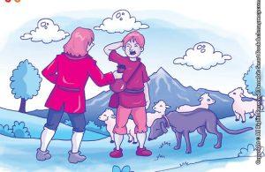 10 menit kumpulan dongeng teladan ilustrasi hero si anjing pemberani dan tiga ekor anjing kampung