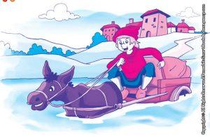 10 menit kumpulan dongeng teladan ilustrasi keledai pengangkut barang yang pemalas
