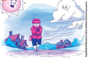 10 menit kumpulan dongeng teladan ilustrasi kisah kesombongan angin dan awan di langit