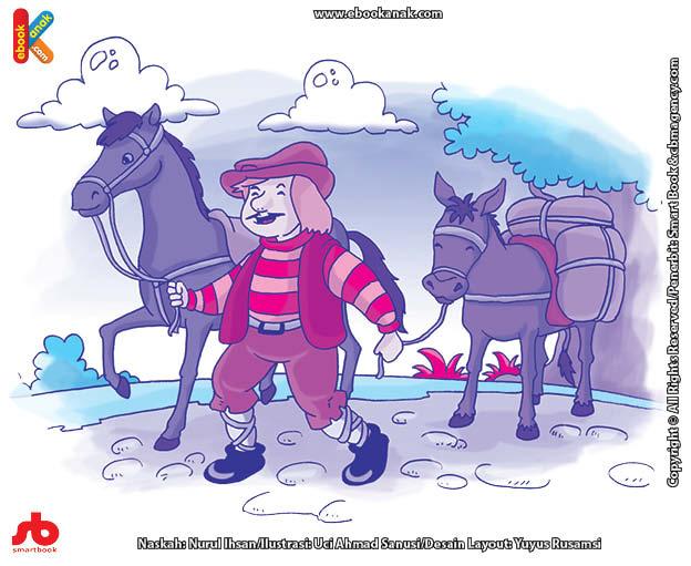 10 menit kumpulan dongeng teladan ilustrasi kuda cantik dan keledai buruk rupa