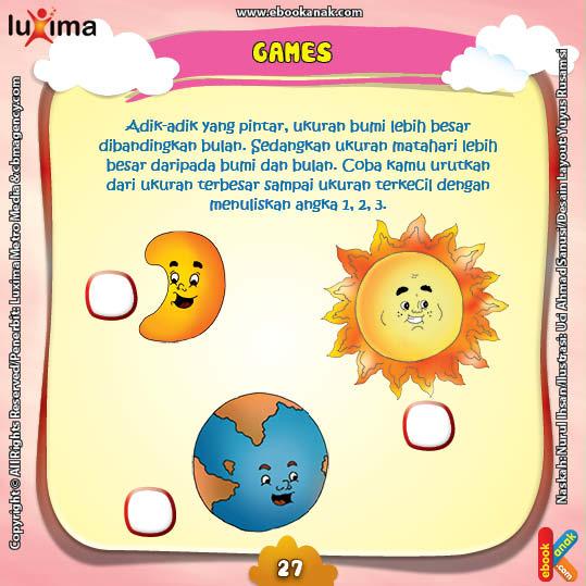 Rahasia Keajaiban Matahari, Membandingkan Ukuran Matahari, Bumi, dan Bulan
