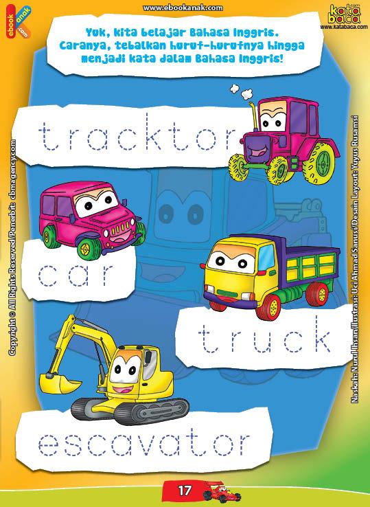 Mengenal Alat Transportasi dalam Bahasa Inggris | Ebook Anak