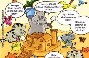 baca dan download gratis seri balita shalih Menyayangi Islam artinya keselamatan