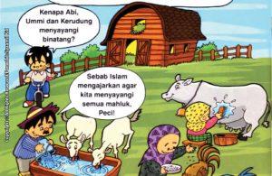 baca dan download gratis seri balita shalih Menyayangi Islam karena islam mengajarkan mengasihi hewan