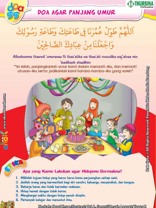 belajar mengenal adab dan doa mohon diberi panjang umur