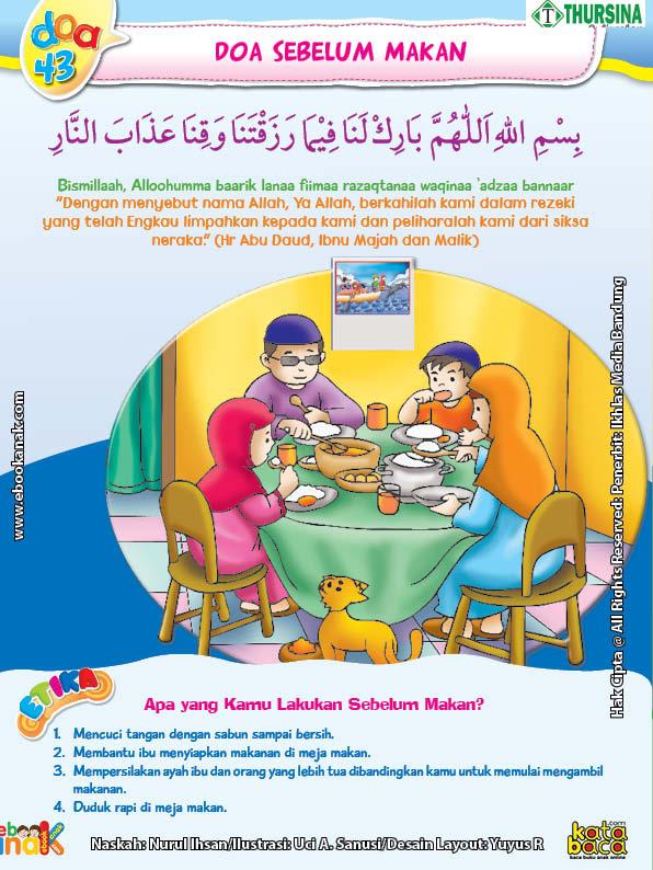 belajar mengenal adab dan doa sebelum makan