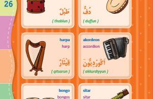 download gratis ebook pdf kamus bergambar 3 bahasa indonesia, inggris, arab alat musik 2