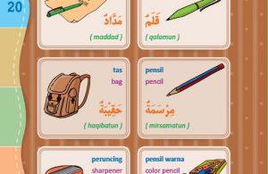download gratis ebook pdf kamus bergambar 3 bahasa indonesia, inggris, arab benda di ruang kelas (2)