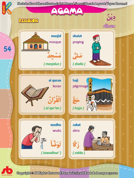 download gratis ebook pdf kamus bergambar 3 bahasa indonesia, inggris, arab istilah dalam agama islam