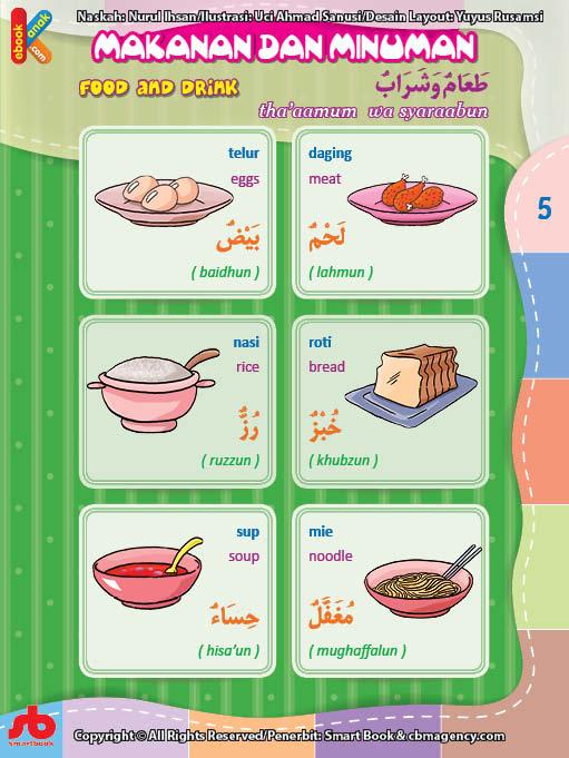 download gratis ebook pdf kamus bergambar 3 bahasa indonesia, inggris, arab makanan dan minuman