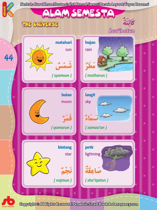 download gratis ebook pdf kamus bergambar 3 bahasa indonesia, inggris, arab mengenal alam semesta