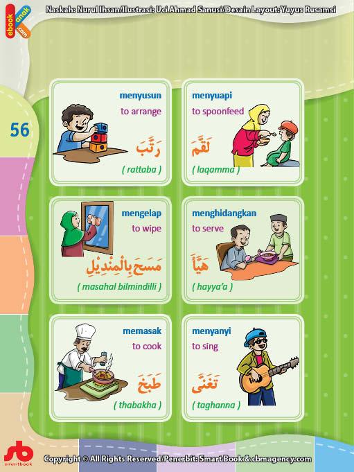 download gratis ebook pdf kamus bergambar 3 bahasa indonesia, inggris, arab mengenal kata kerja (2)