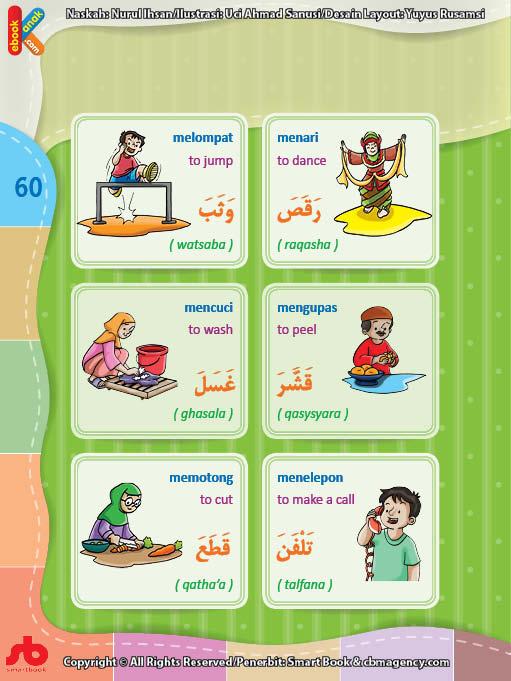 download gratis ebook pdf kamus bergambar 3 bahasa indonesia, inggris, arab mengenal kata kerja (6)