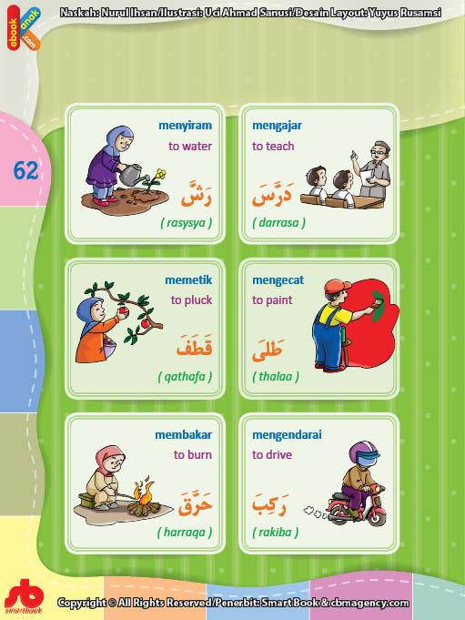 download gratis ebook pdf kamus bergambar 3 bahasa indonesia, inggris, arab mengenal kata kerja (8)