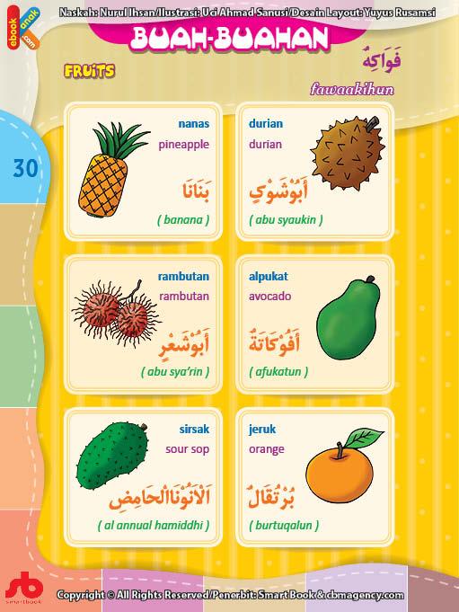 download gratis ebook pdf kamus bergambar 3 bahasa indonesia, inggris, arab nama buah-buahan (1)