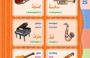 download gratis ebook pdf kamus bergambar 3 bahasa indonesia, inggris, arab nama nama alat musik 1