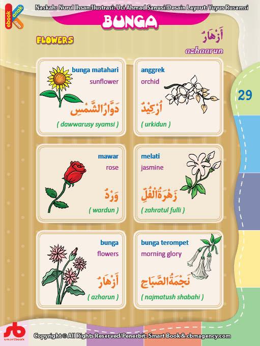 download gratis ebook pdf kamus bergambar 3 bahasa indonesia, inggris, arab nama-nama bunga