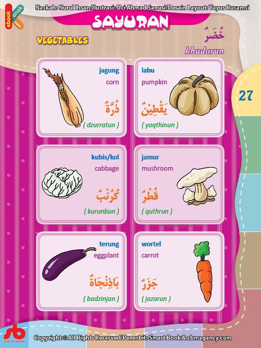 download gratis ebook pdf kamus bergambar 3 bahasa indonesia, inggris, arab nama-nama sayuran (1)