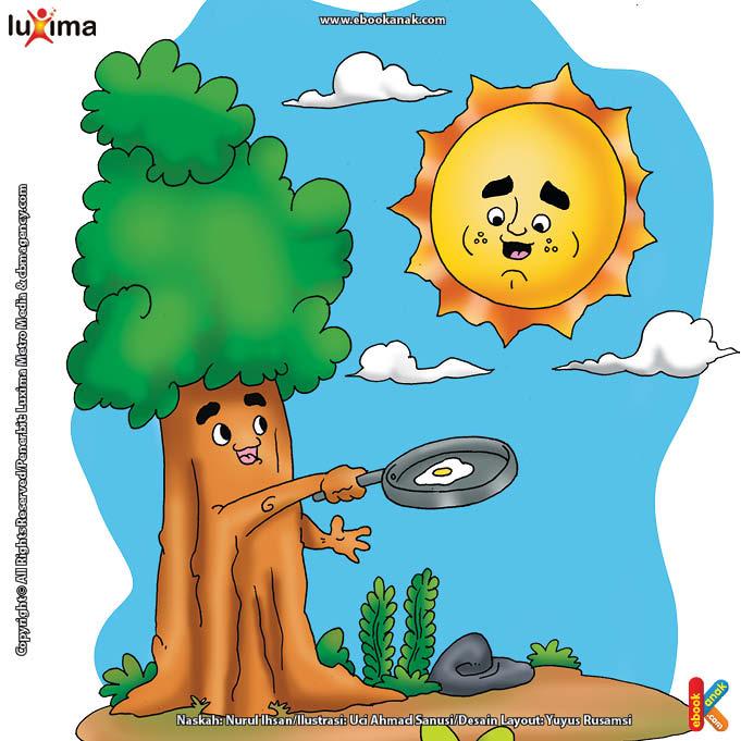 ilustrasi rahasia keajaiban matahari, Bagaimana Cara Matahari Membantu Tumbuhan Membuat Makanan
