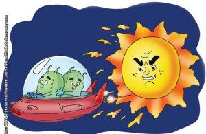 ilustrasi rahasia keajaiban matahari, Gas Apa yang Membentuk Matahari