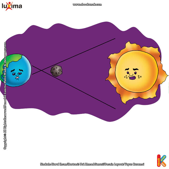 ilustrasi rahasia keajaiban matahari, Kenapa Terjadi Gerhana Matahari