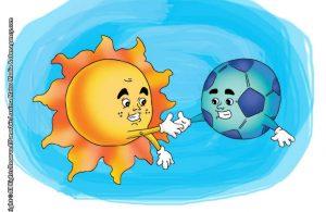 ilustrasi rahasia keajaiban matahari, bagaimana bentuk matahari