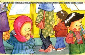 ilustrasi seri kebiasaan anak shalih bagaimana aku berpakaian dan menjaga kebersihannya