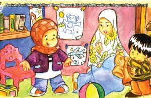 ilustrasi seri kebiasaan anak shalih bagaimana aku berpakaian sesuai jenis kelamin