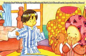 ilustrasi seri kebiasaan anak shalih bagaimana aku berpakaian tidak kebesaran