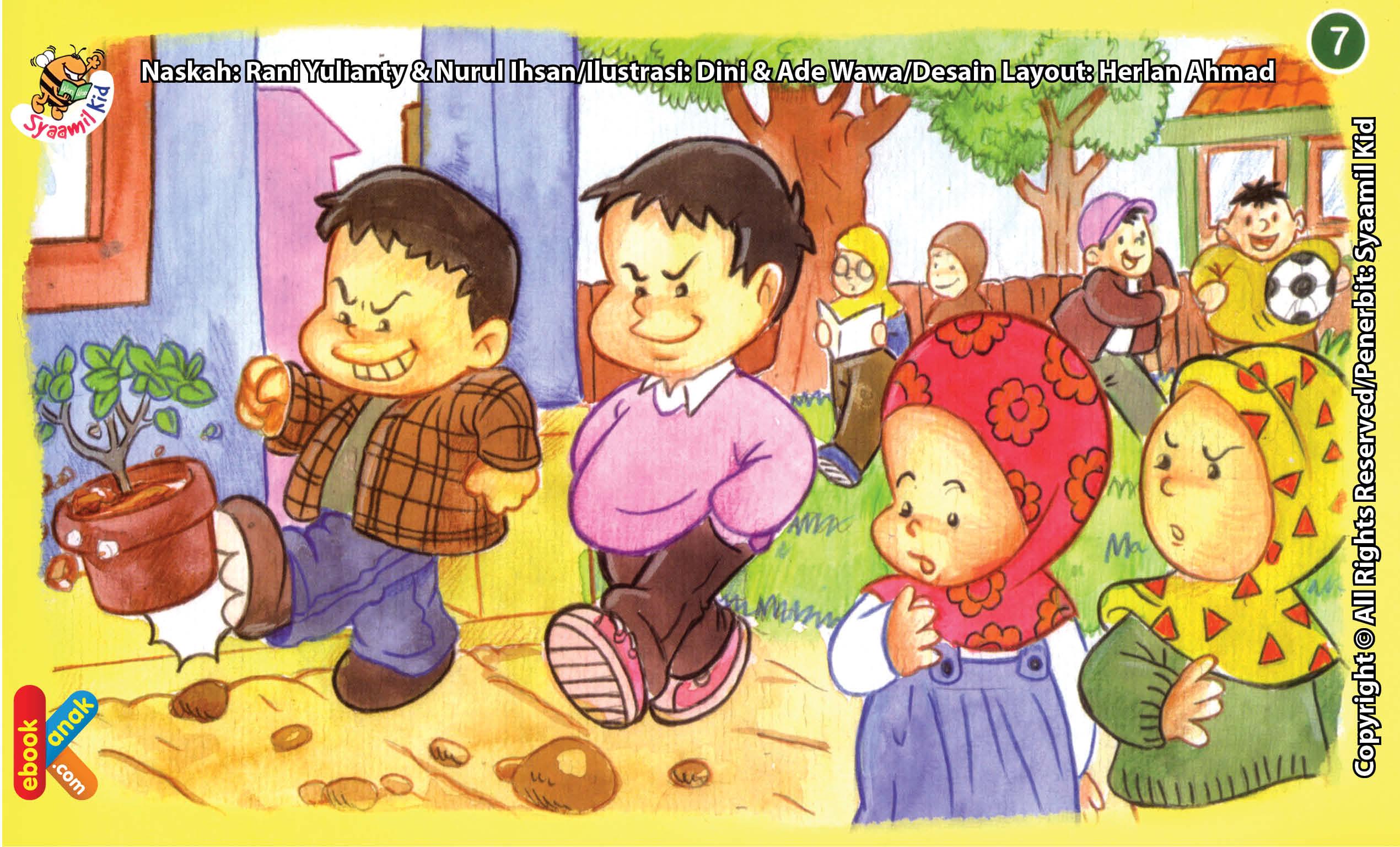ilustrasi seri kebiasaan anak shalih berteman dengan anak shalih