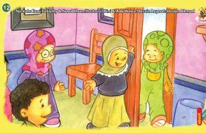 ilustrasi seri kebiasaan anak shalih senangnya jika teman yang kita undang bisa datang