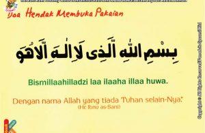seri kebiasaan anak shalih bacaan doa hendak membuka pakaian