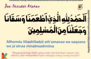 seri kebiasaan anak shalih berdoa setelah makan
