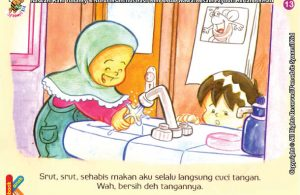 Seri Kebiasaan Anak Shalih Mencuci Tangan Setelah Selesai Makan Ebook Anak