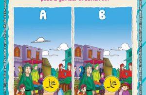 Ebook Seri Belajar Islam Sejak Usia Dini Nabi Muhammad Idolaku, Mencari 5 Perbedaan pada 2 Gambar