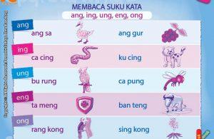 Belajar Membaca Suku Kata: ang, ing, ung, eng, ong