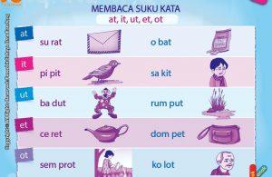 baca dan download gratis 10 menit mahir membaca, Belajar Membaca Suku Kata at, it, ut, et, ot