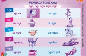 baca dan download gratis 10 menit mahir membaca, Belajar Membaca Suku Kata nga, ngi, ngu, nge, ngo