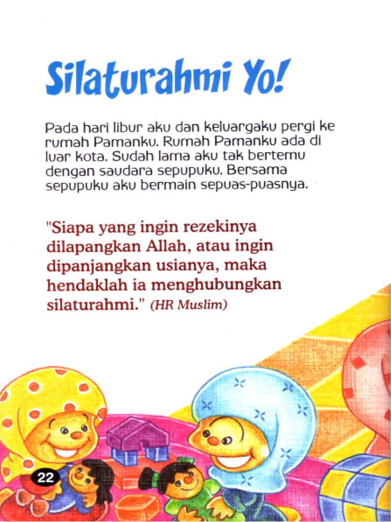 baca ebook seri hadis kecil menolong yuk, Menghubungkan Silaturahmi Akan Memanjangkan Usia dan Melapangkan Rezeki
