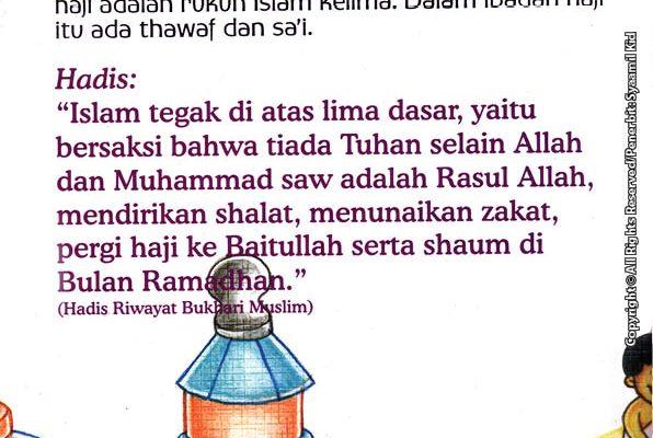download gratis ebook seri hadis kecil bantu ibu, yuk! Agama Islam Itu Tegak di Atas Lima Dasar, Apa Saja Ya