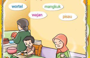 ebook seri belajar islam sejak usia dini Islam Agamaku, Menghubungkan Nama-Nama Gambar yang Sesuai