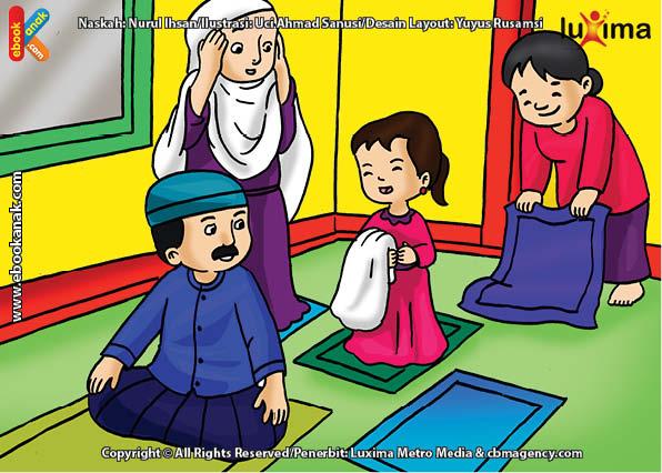 820 Gambar Kartun Keluarga Shalat Berjamaah Gratis Terbaru