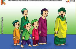 ilustrasi seri belajar islam sejak usia dini ayo berpuasa, Alif Shalat Tarawih Setelah Shalat Isya di Bulan Ramadhan