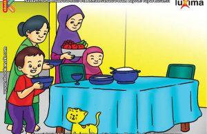 ilustrasi seri belajar islam sejak usia dini ayo berpuasa, Berpahala Besar Memberi Makan Untuk Berbuka Bagi Orang yang Berpuasa