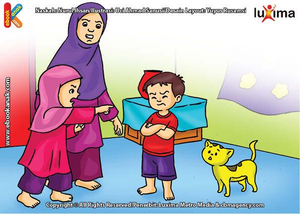 ilustrasi seri belajar islam sejak usia dini ayo berpuasa, Marah, Mencela, atau Perbuatan Buruk Bisa Mengurangi Pahala Puasa