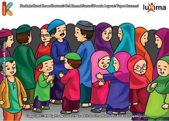 Shalat Idul Fitri, Bersalaman, dan Bersilaturahim di Hari ...