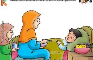 ilustrasi seri belajar islam sejak usia dini mengenal islam agamaku, Bersabar di saat Sakit Menjadi Pembersih Dosa-Dosa Kecil